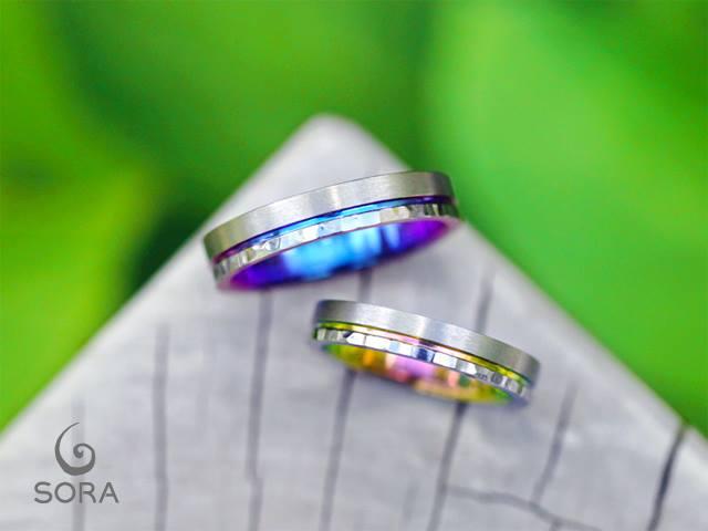 札幌結婚指輪クライス 発色 多色性