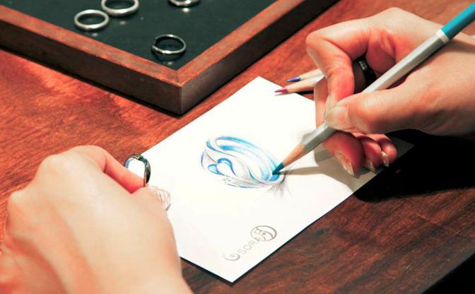 札幌結婚指輪クライス SORAデッサン