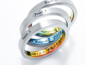 札幌結婚指輪クライス 刻印
