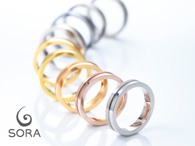 札幌結婚指輪クライス SORA素材
