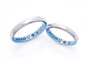 結婚指輪クライス オーダー例1
