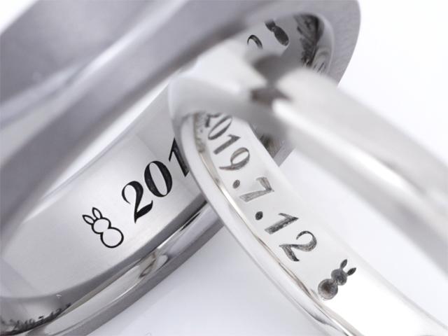 札幌結婚指輪クライス オリジナル刻印